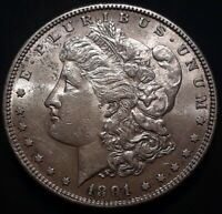 1891-S $1 MORGAN SILVER DOLLAR AU/MS