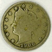 1906-P 5C LIBERTY HEAD NICKEL 19CR0630-2 ONLY 50 CENTS FOR SHIPPING
