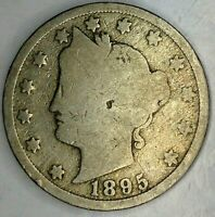 1895-P  5C LIBERTY HEAD NICKEL 19WC0804 ONLY 50 CENTS FOR SHIPPING