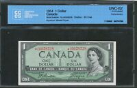 1954 BANK OF CANADA $1. REPLACEMENT  A/A. CCCS UNC 62. BEATTIE COYNE. BC 37AA