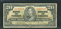 1937 $20 BANK OF CANADA. F 15. OSBORNE TOWERS  SIGNATURES. BC 25A. BV $275