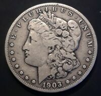 1903-S $1 MORGAN SILVER DOLLAR FINE