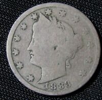 1883 WITH CENTS 5C LIBERTY V NICKEL  AN3