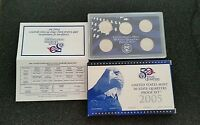 2005 S US MINT 50 STATE QUARTERS PROOF 5 COIN SET CA MN OR K