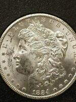 1884-CC VAM 3A DOUBLED 188 LEFT $1GSA GOVT HOARD MORGAN SILVER DOLLAR  COIN