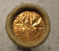 1968 CANADA ORIGINAL TORONTO DOMINION BANK WRAPPED ROLL OF 50 UNC PENNIES OBW