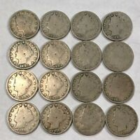 LIBERTY V NICKEL COLLECTION. 16 ALL DIFFERENT,1897-1912. STRONG GOOD. LOT2