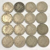 LIBERTY V NICKEL COLLECTION. 16 ALL DIFFERENT,1897-1912. STRONG GOOD. LOT5