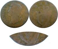 1769 IRISH NON REGAL HALFPENNY MULE GEORGE II OBVERSE GEORGE