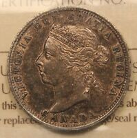 1888 CANADA SILVER 25 CENTS EF40 ICCS. NICE DETAIL NATURALLY TONED PIECE.