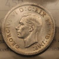 1938 CANADA SILVER 10 CENTS ICCS MS63 CHOICE UNCIRCULATED.