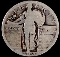 1928-P 25C STANDING LIBERTY QUARTER, SUU 90 SILVER 50 CENTS FOR SHIPPING