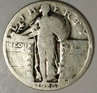 1926-P 25C STANDING LIBERTY QUARTER 18UTU2802 90 SILVER 50 CENTS FOR SHIPPING