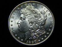 1897-S $1 MORGAN DOLLAR MS UNC BU,  BETTER DATE