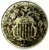 1873-P 5C SHIELD NICKEL 19SRA0714 ONLY 50 CENTS FOR SHIPPING
