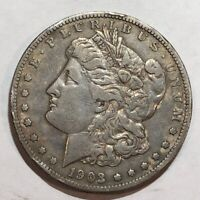 1903-S MORGAN SILVER DOLLAR. VF  LOT3
