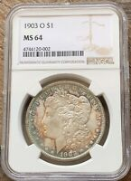 1903-O NGC MINT STATE 64 MORGAN SILVER DOLLAR EXCEPTIONAL COIN