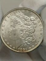 1881-P VAM 21 MORGAN DOUBLED EAR VARIETY SILVER ONE DOLLAR R5-  COIN