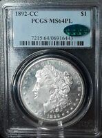 1892 CC $1 PROOFLIKE MORGAN DOLLAR PCGS & CAC MINT STATE 64PL SO CLOSE TO DMPL