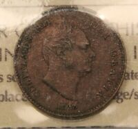 1835 GREAT BRITAIN 1/3 FARTHING EF40 ICCS. KM 721. KING GEORGE IV.