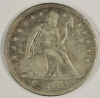 1841 SEATED LIBERTY SILVER DOLLAR $1  FINE VF DETAILS SCRATCHED