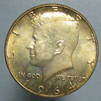 BEAUTIFULLY TONED BU 1964 KENNEDY HALF DOLLAR