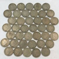 ROLL OF 40  GOOD LIBERTY V NICKELS, MIXED COMMON DATES. LOT1