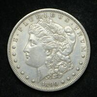 1890-S MORGAN SILVER DOLLAR BB3039