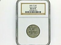 2001 P NEW YORK 25C NGC MS65 PL   ONLY ONE GRADED NGC MS 65