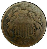 1866-P 2C COPPER TWO CENT PIECE 19CWA0719 ONLY 50 CENTS FOR SHIPPING