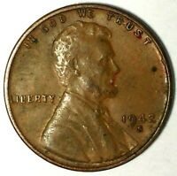 1942-S 1C LINCOLN WHEAT CENT 19LC0217 ONLY 50 CENTS FOR SHIPPING