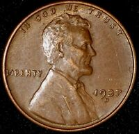 1937-D 1C LINCOLN WHEAT CENT 17RR0607-4 UNC R/B ONLY 50 CENTS FOR SHIPPING