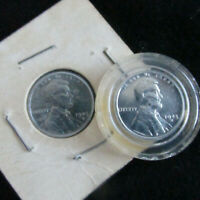 LOT OF 2 1943 D STEEL LINCOLN WHEAT PENNIES, BELIEVED TO BE UNCIRCULATED