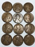 12 G-F LINCOLN WHEAT CENTS. P,D&S FOR EACH YEAR 1917, 1918, 1919, 1920. Q1