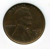 1929-S WHEAT CENT |  CHOICE UNCIRCULATED | RED-BROWN | SAN FRANCISCO | CP622