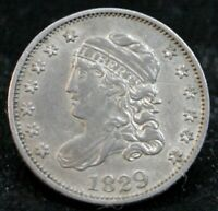 1829 CAPPED BUST HALF DIME H10C    HIGH GRADE EARLY SILVER T