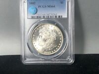 1882-P PCGS MINT STATE 64 MORGAN SILVER DOLLAR SIGHT WHITE CERTIFIED GREAT LUSTER