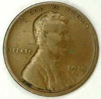 1919-S 1C LINCOLN WHEAT CENT 19RR0721 ONLY 50 CENTS FOR SHIPPING