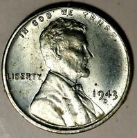 1943-D 1C LINCOLN WHEAT CENT 18LSO1104 UNC ONLY 50 CENTS FOR SHIPPING