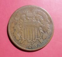 1865 TWO CENT TYPE COIN