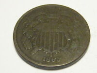 1865 TWO CENT PIECE GOOD