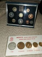 2 COIN PROOF SETS    BRITISH & MEXICAN