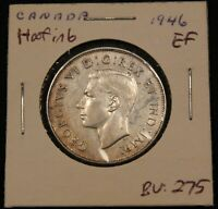 1946 CANADA SILVER 50 CENTS. HOOF IN 6.  VARIETY. EF BV $275.