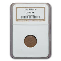 1909-S VDB LINCOLN CENT EXTRA FINE -45 NGC