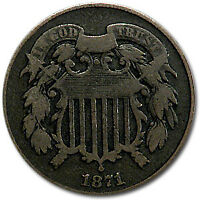 1871 TWO CENT PIECE VG - SKU30266
