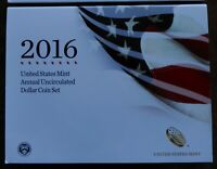 2016 US MINT ANNUAL UNCIRCULATED DOLLAR COIN SET W/ BURNISHE