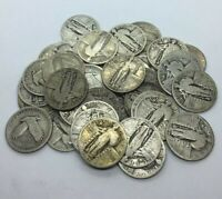 FULL DATE 90  SILVER STANDING LIBERTY QUARTERS  1916 1930