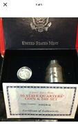 2000 P MASSACHUSETTS COIN & DIE SET WITH BOX AND COA LAST ON