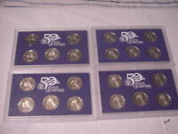 2000 S 2002 S & 2004 S STATE QUARTER PROOF SETS NO BOXES