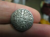 SCOTTISH  ROBERT THE BRUCE PENNY  MEDIEVAL HAMMERED SILVER